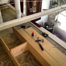 Building loft shelves