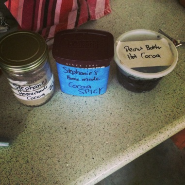 Homemade cocoa mixes