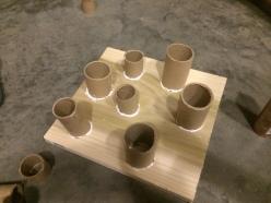Cat puzzle feeder (glue still drying)