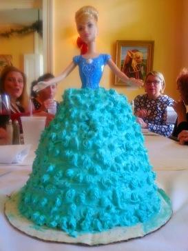 Barbie doll cake for Cari's birthday