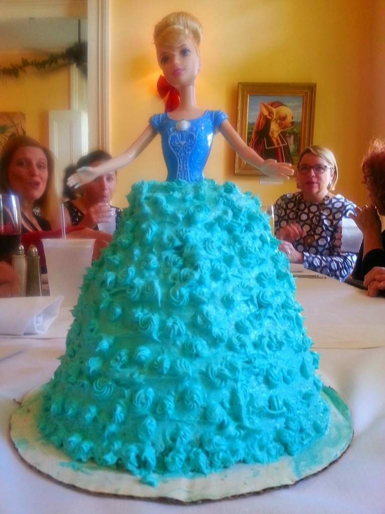 Barbie doll cake for Cari's birthday